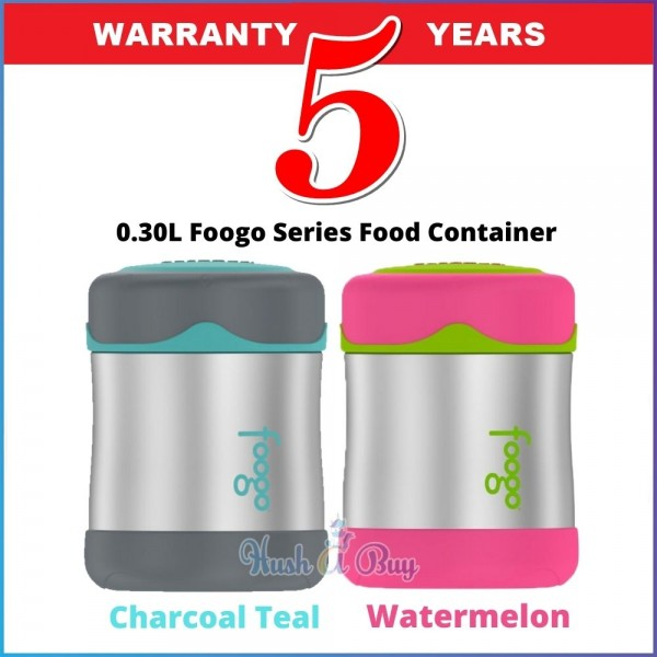 Thermos B3004 Foogo Series Food Container 0.30L (Charcoal Teal / Watermelon) - 5 Years Warranty by Thermos Malaysia