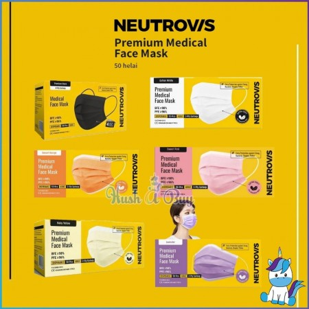 Neutrovis Premium Medical Face Mask for Sensitive Skin (Extra Soft) 50pcs