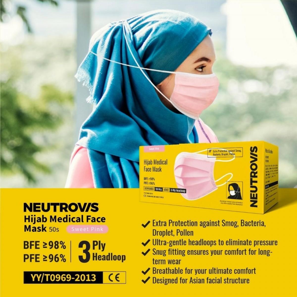 Neutrovis Hijab Medical Face Mask 50pcs