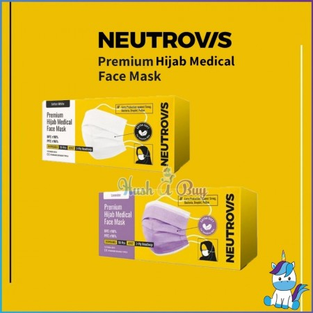 Neutrovis Hijab Premium Medical Face Mask for Sensitive Skin (Extra Soft) 50pcs