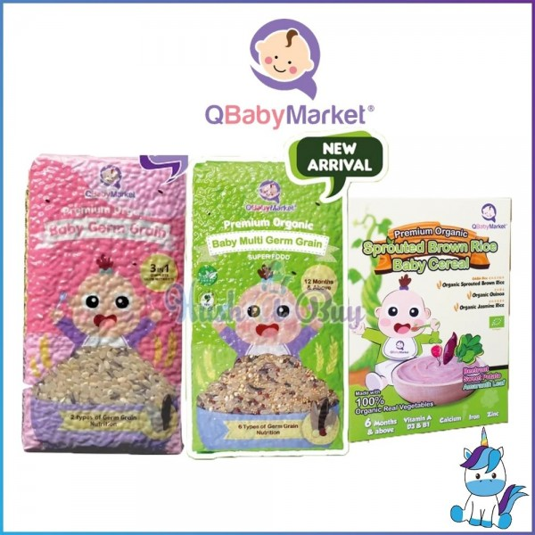 Q Baby Market Premium Organic Baby Germ Grain / Baby Multi Germ Grain / Sprouted Brown Rice Baby Cereal