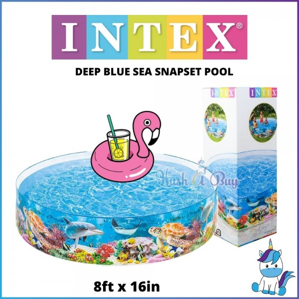 INTEX 8ft x 18in DEEP BLUE SEA Snap Set Pool