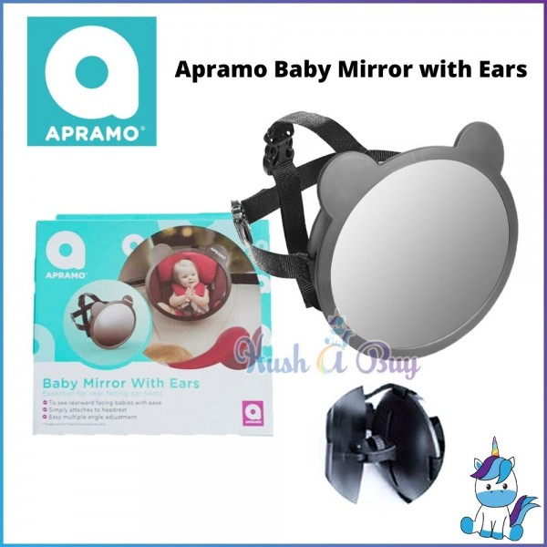 Apramo Extra Large Baby Mirror with Ears for Rear Facing Kids