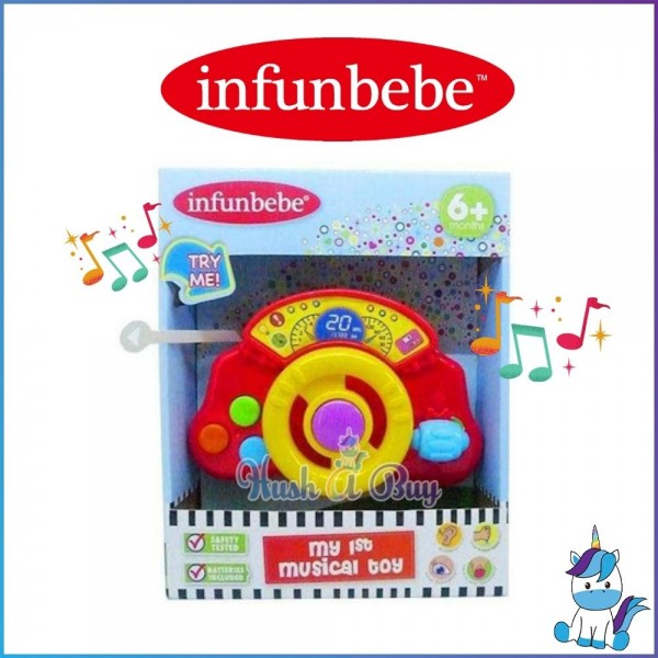 Infunbebe Mini Dashboard: My First Musical Toy for 6m+