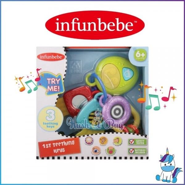 Infunbebe My First Teething Keys Toys for Baby and Toddler Aged 6m+