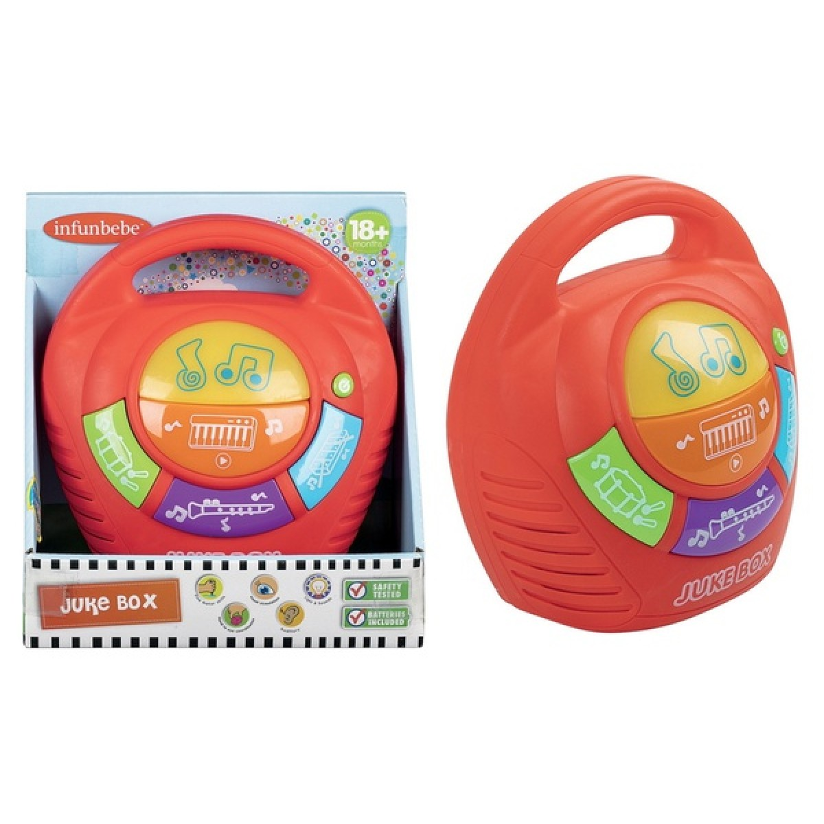 Infunbebe Juke Box Toy for Baby 12m+