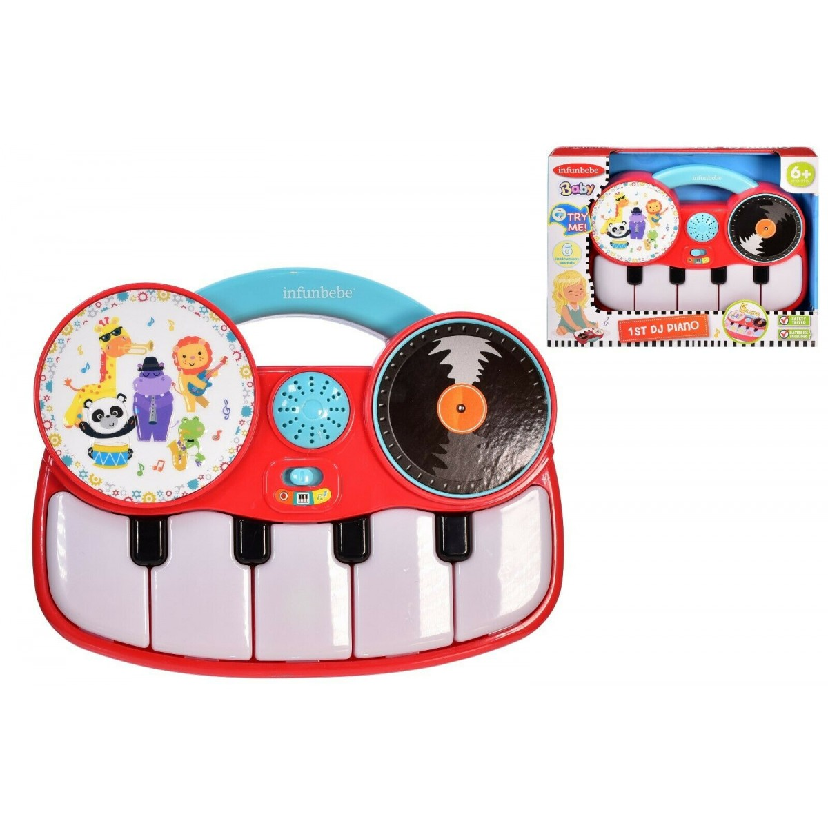 Infunbebe My First DJ Piano Toy for Baby 6m+