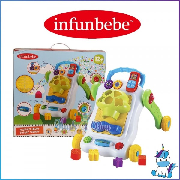 Infunbebe Activity Walker for Children 12m+ : Shape Sorter / Ball Run / Smart Activity
