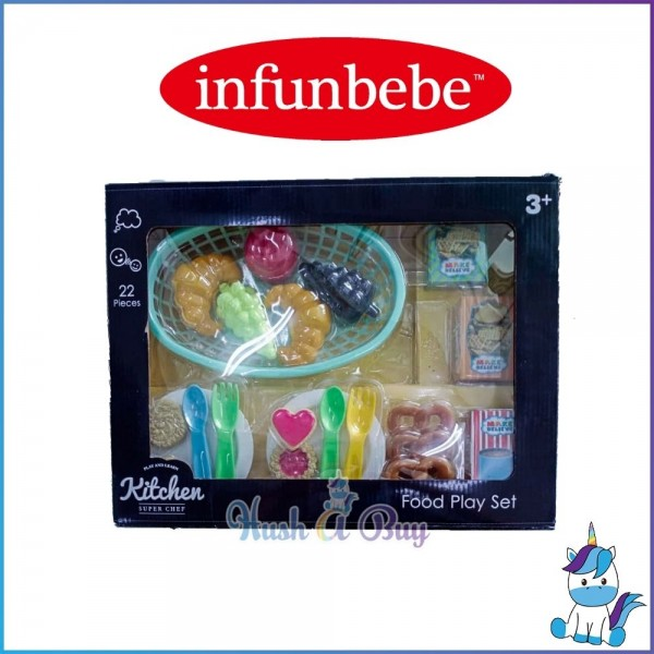Infunbebe Play N Learn Kitchen Super Chef Food Play Set (22 pieces) for 3yrs+