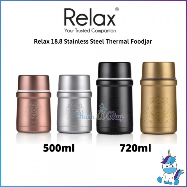 Relax 18.8 Stainless Steel Thermal Foodjar 500ml / 720ml - 1 Year Warranty
