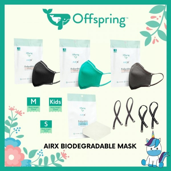 Offspring OFFSPRING AirX Biodegradable MASK [FREE 2 FILTERS]
