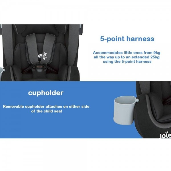 Joie BOLD Car Seat Group 1/2/3 (9-36kg) with ISOFIX -  Ember / Cherry