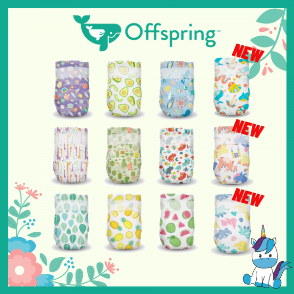 Offspring Fashion Chlorine-Free Diapers Tapes S 48/ M 42/ L 36/ XL 30