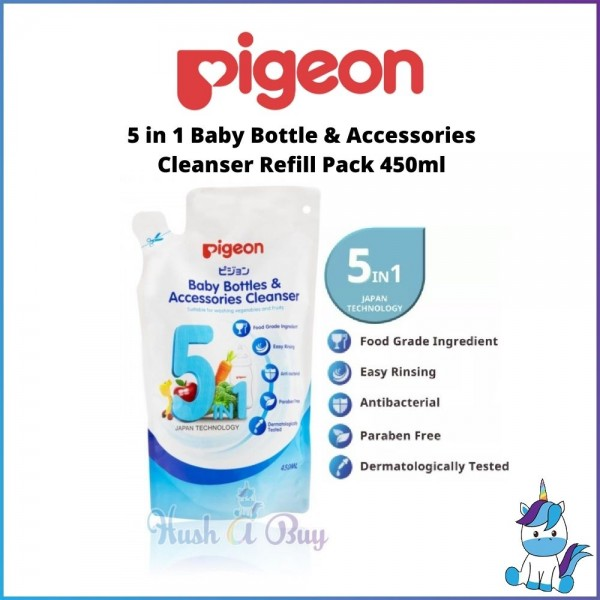 Pigeon 5 in 1 Baby Bottle & Accessories Cleanser Refill Set 450ml/pack
