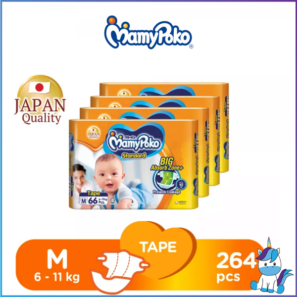 1 ctn (4packs) MamyPoko Standard Tape (M66 / L54 / XL42)