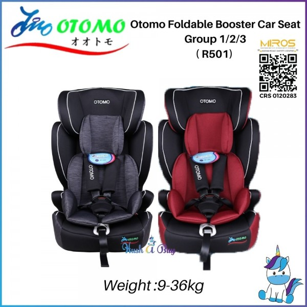Otomo R501 Foldable Booster Car Seat Group 1/2/3 (9-36kg) ECE R44/04