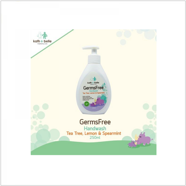 Kath + Belle GermsFree Handwash (Tea Tree, Lemon & Spearmint)
