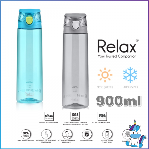 RELAX Tritan Water Bottle 900ml (BPA FREE)