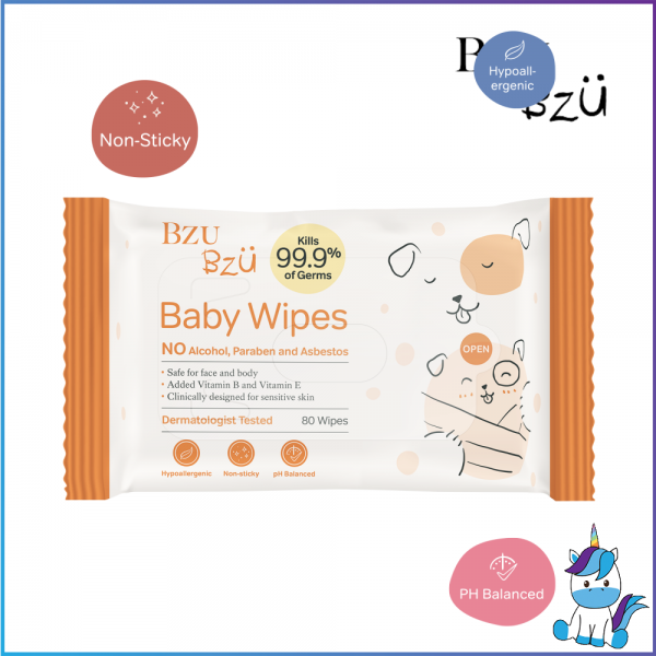 BZU BZU Baby Wipes 30sheets - Product of Singapore  Made in Malaysia