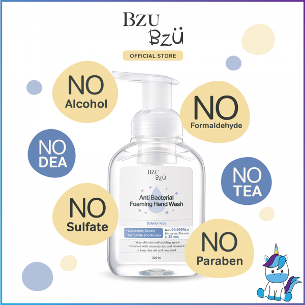 BZU BZU Anti Bacterial Foaming Hand Wash (300ml) - Product of Singapore Made in Malaysia