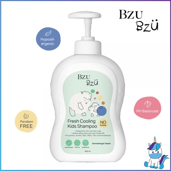 BZU BZU Fresh Cooling Kids Shampoo 600ml - Product of Singapore Made in Malaysia
