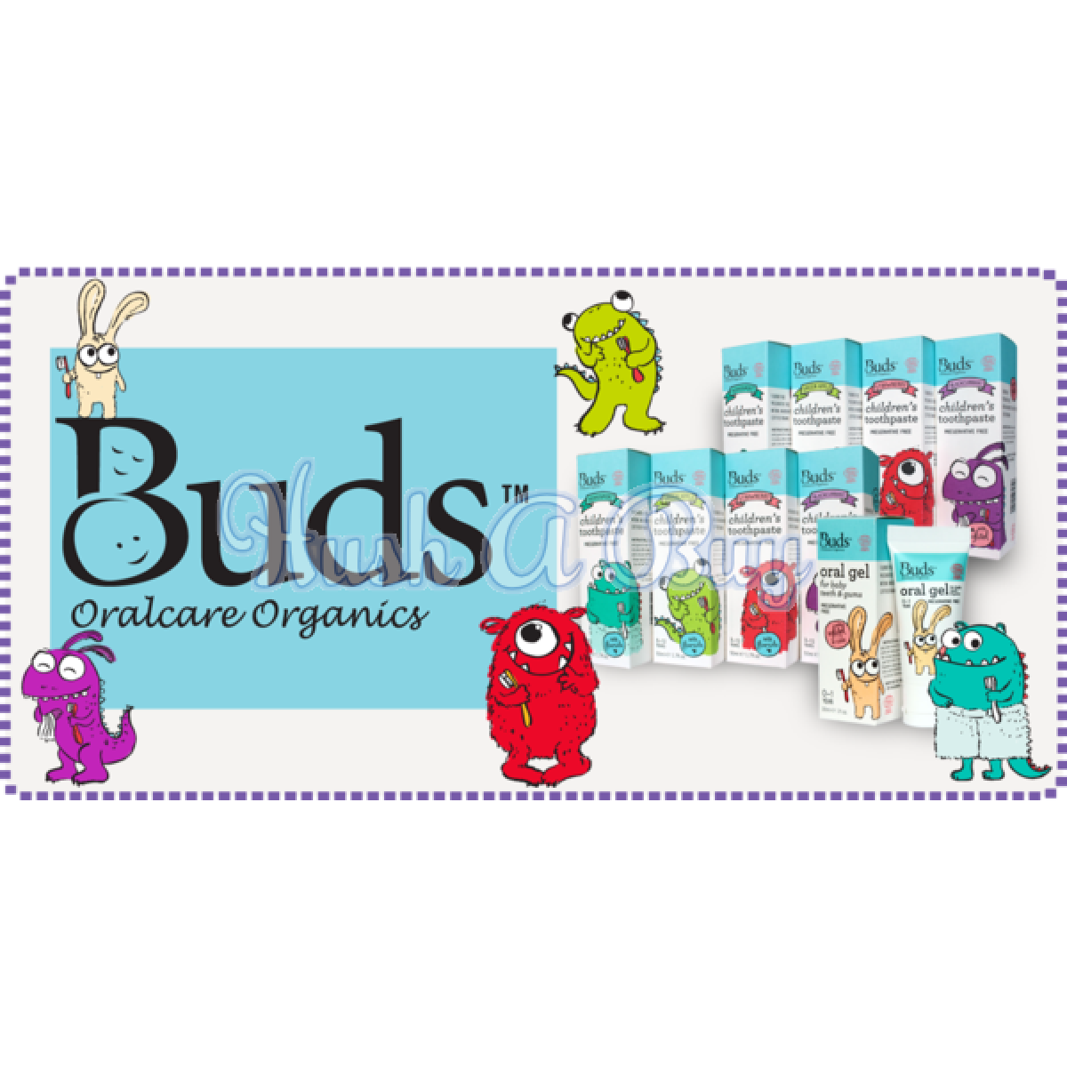Buds Children's Toothpaste With Fluoride Stawberry/Green Apple/Peppermint/Blackcurrent