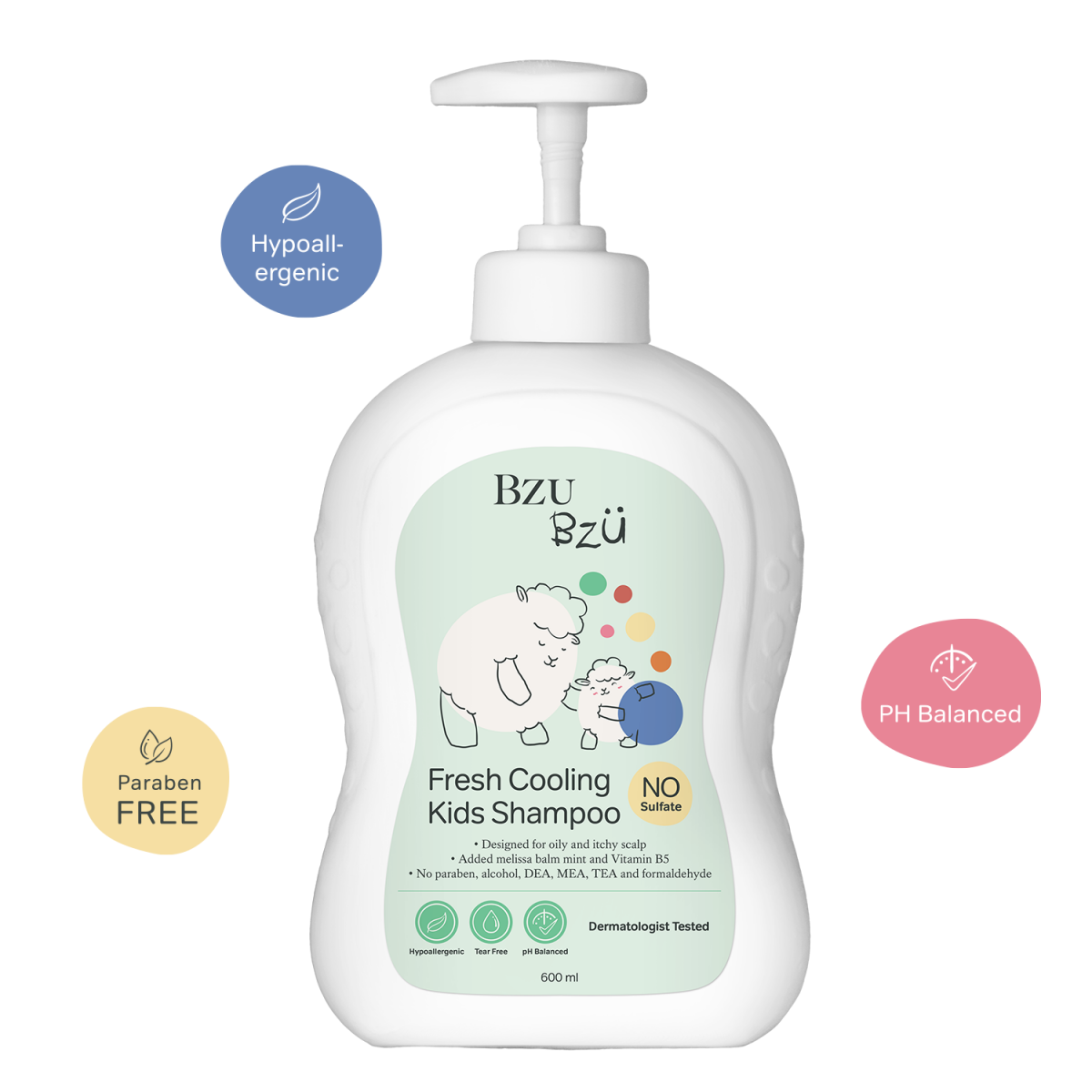 BZU BZU Fresh Cooling Kids Shampoo 200ml - Product of Singapore Made in Malaysia