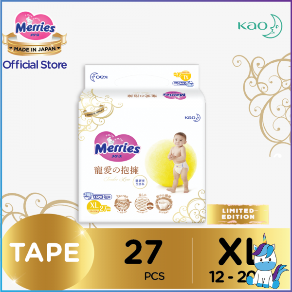 Merries Tender Love Tape Baby Diapers XL 27pcs (12-20kg)