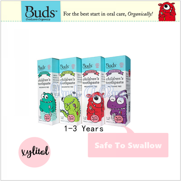 Buds Children's Toothpaste With Xylitol