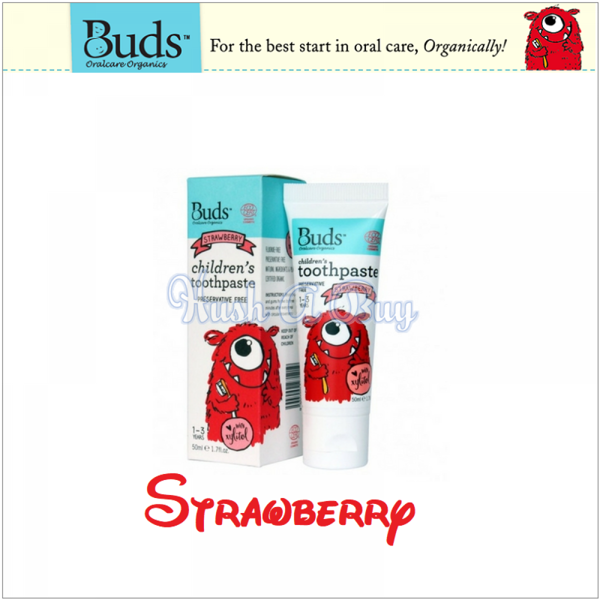 Buds Children's Toothpaste With Xylitol 1-3 Years