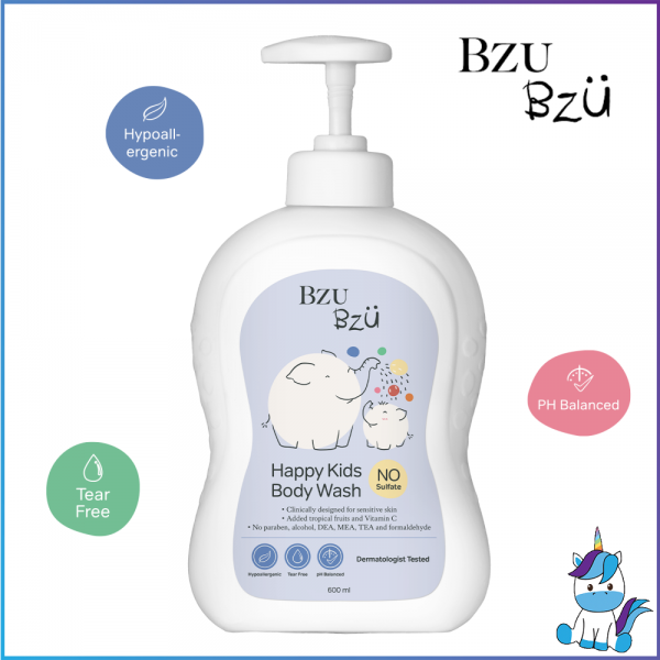 BZU BZU Happy Kids Body Wash 600ml - Product of Singapore Made in Malaysia