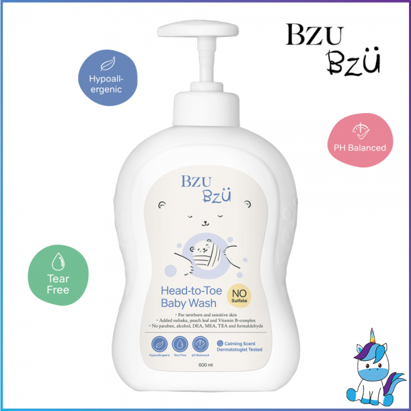 BZU BZU Head-To-Toe Baby Wash 600ml - Product of Singapore Made in Malaysia