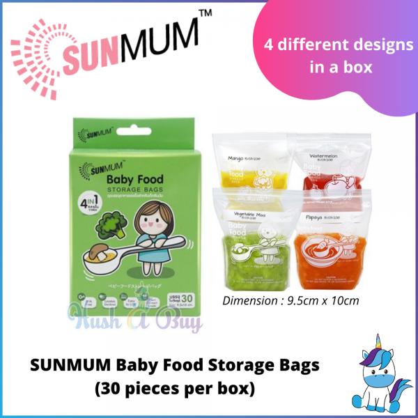 SUNMUM Baby Food Storage Bags (30 pieces per box)