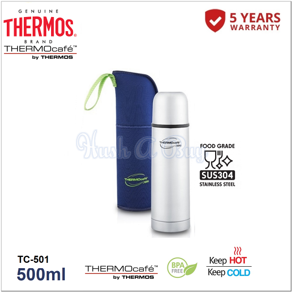 Thermos Thermocafe Stainless Steel Vacuum Insulated Tumbler with Pouch 500ml
