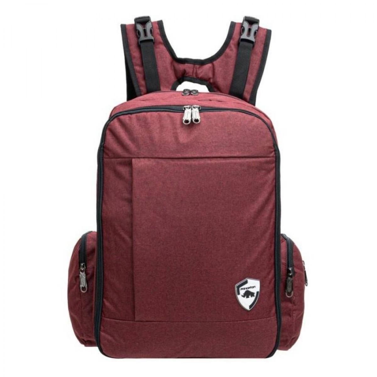 Princeton Starwalker X Series Baby Diaper Bag - Maroon / Black / Jeans Blue - Lifetime Warranty