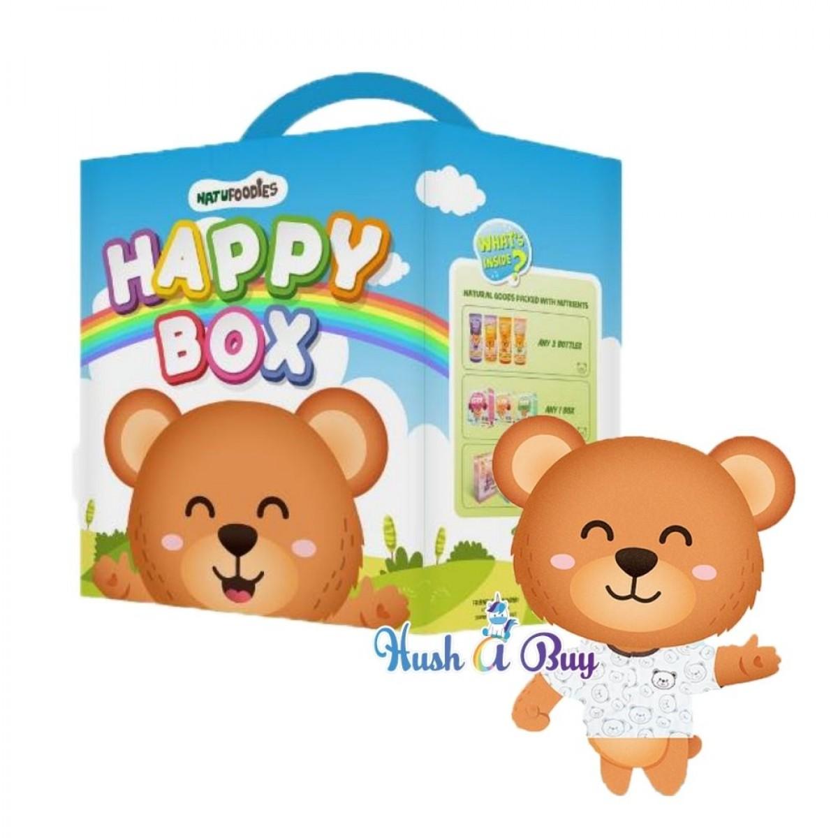 Natufoodies Baby Snacks Happy Box - 5 IN 1 [FREE TODDLER T-SHIRT]