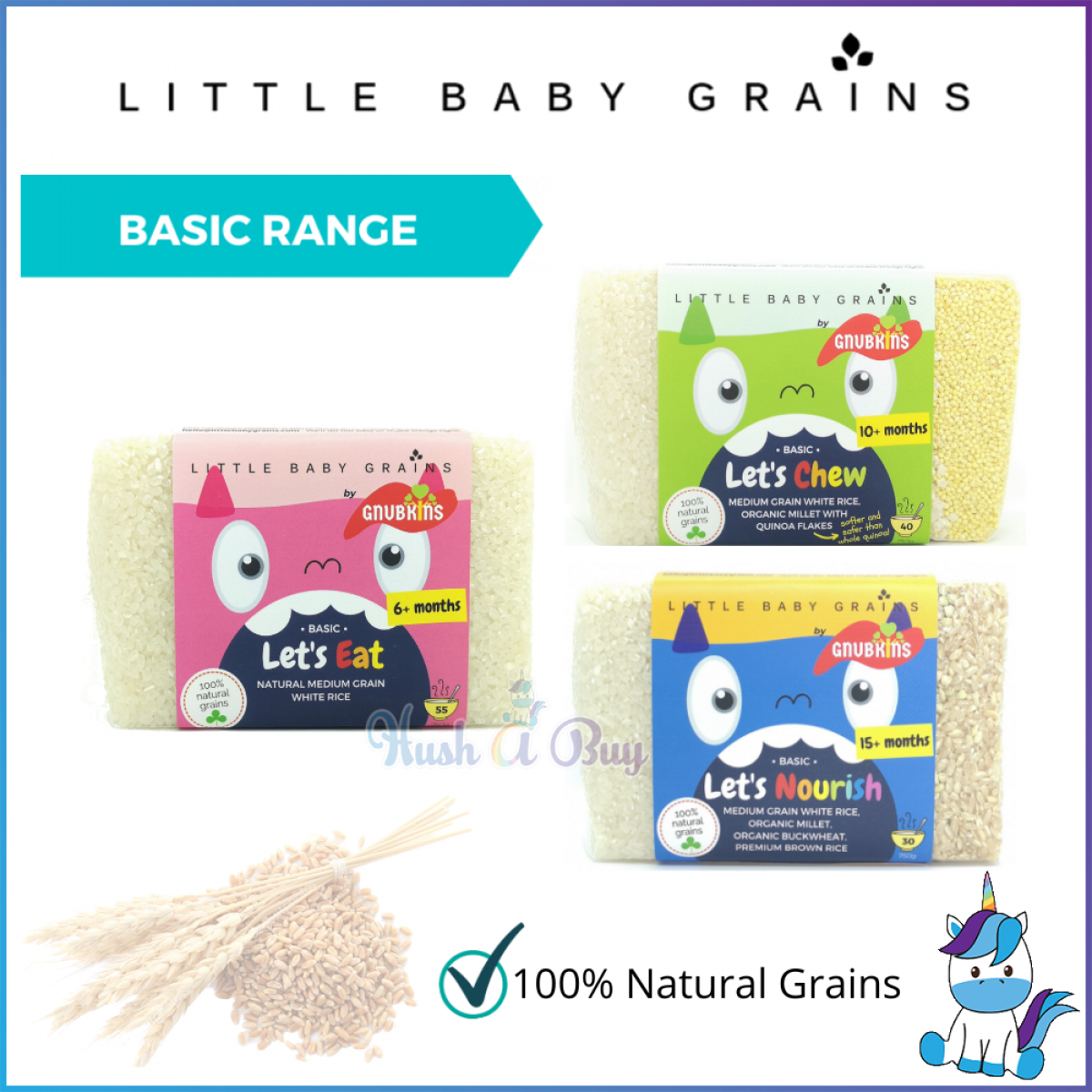 Little Baby Grains Basic Range 750g - Let's Eat / Let's Chew / Let's Nourish (From 6+ months - 15+ months)