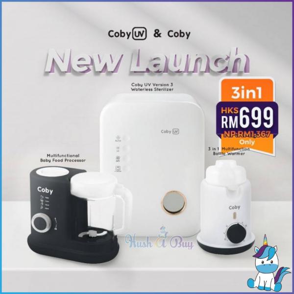 3 IN 1 COMBO Coby UV Version 3.0 V3 Waterless Sterilizer +  Baby Food Processor + Bottle Warmer [1 YEAR WARRANTY]