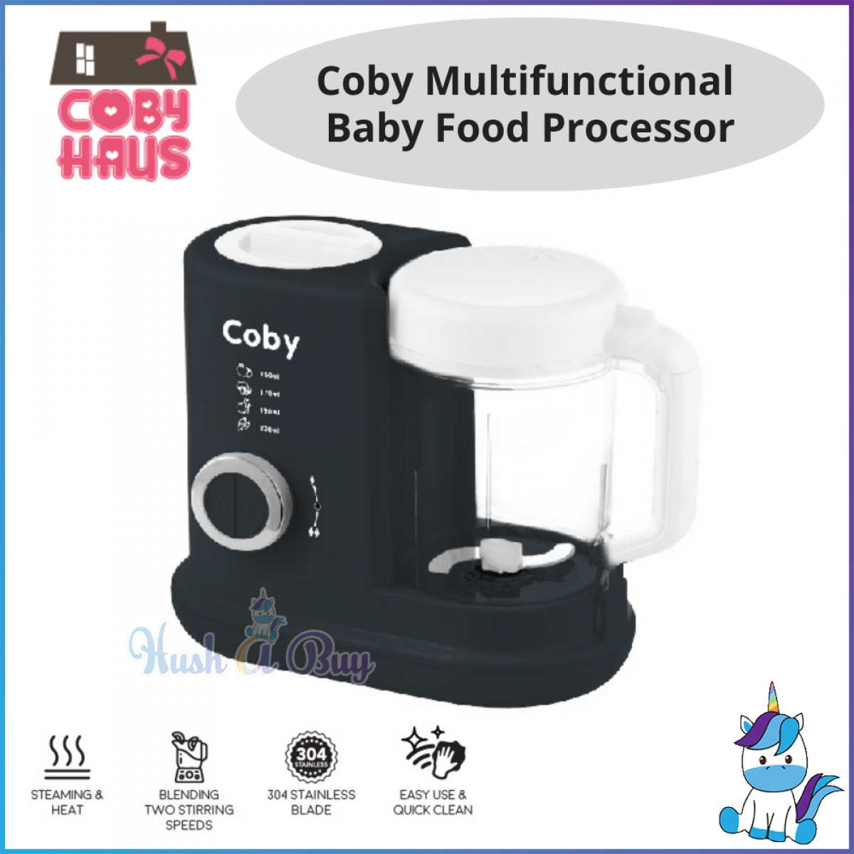 Coby Multifunctional Baby Food Processor and Steamer [1 YEAR WARRANTY]