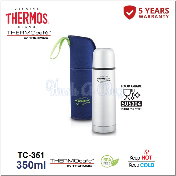 Thermos Thermocafe Stainless Steel Vacuum Insulated Tumbler with Pouch 350ml