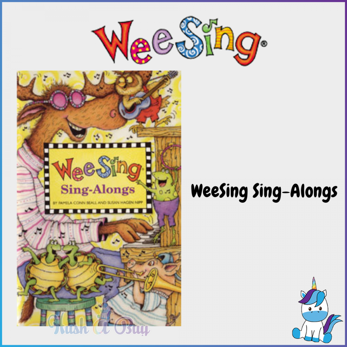 WeeSing Children Musical CD with Illustrated Book with Complete Lyrics - And Move / Sing Along / The Best of Weesing [Age 0+]