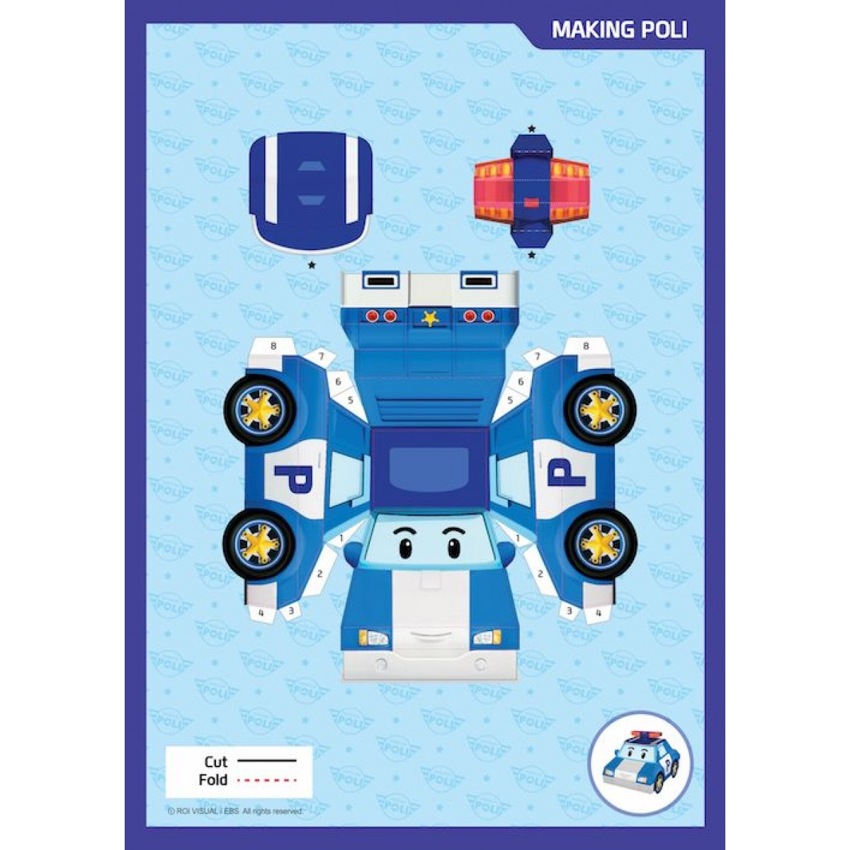 Robocar Poli Origami Series - Poli and Friends / Fun in Broomstown - Kids Gifts & Book