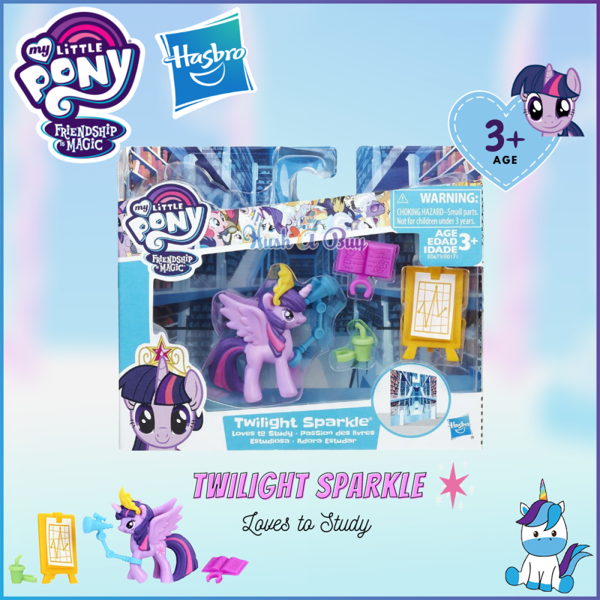 Hasbro My Little Pony Friendship Is Magic Story Set (Age 3+) - Pony Figure & Accessories - Kids Toys and Games