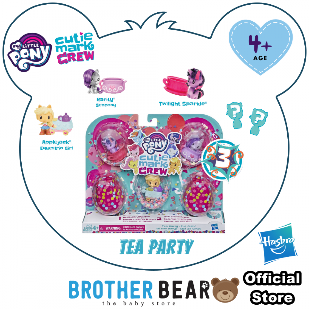 Hasbro My Little Pony Cutie Mark Crew Series Toys Collection (Age 4+) - Kids Toys and Games