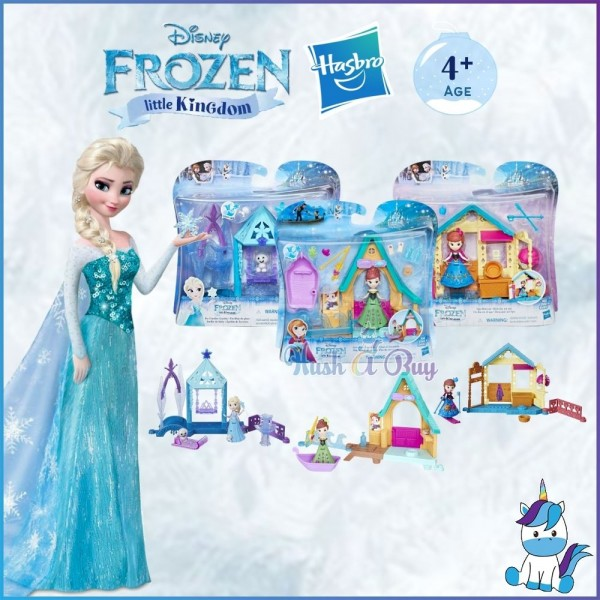 Hasbro Disney Frozen Little Kingdom Series Mini Playset Toys (Age 3+) - Kids Toys and Games
