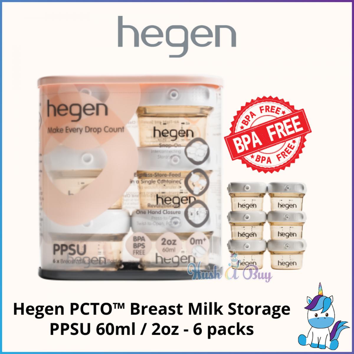 Hegen PCTO™ Breast Milk Storage PPSU 60ml / 2oz - 6 packs