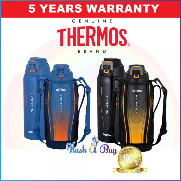 Thermos Hydration Staineless Steel Sport Bottle with Pouch 1.0L