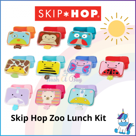 Skip Hop Zoo Lunch Kit 700ml - Cute Children Lunch Box (3Y+) - Food Container - Back To School