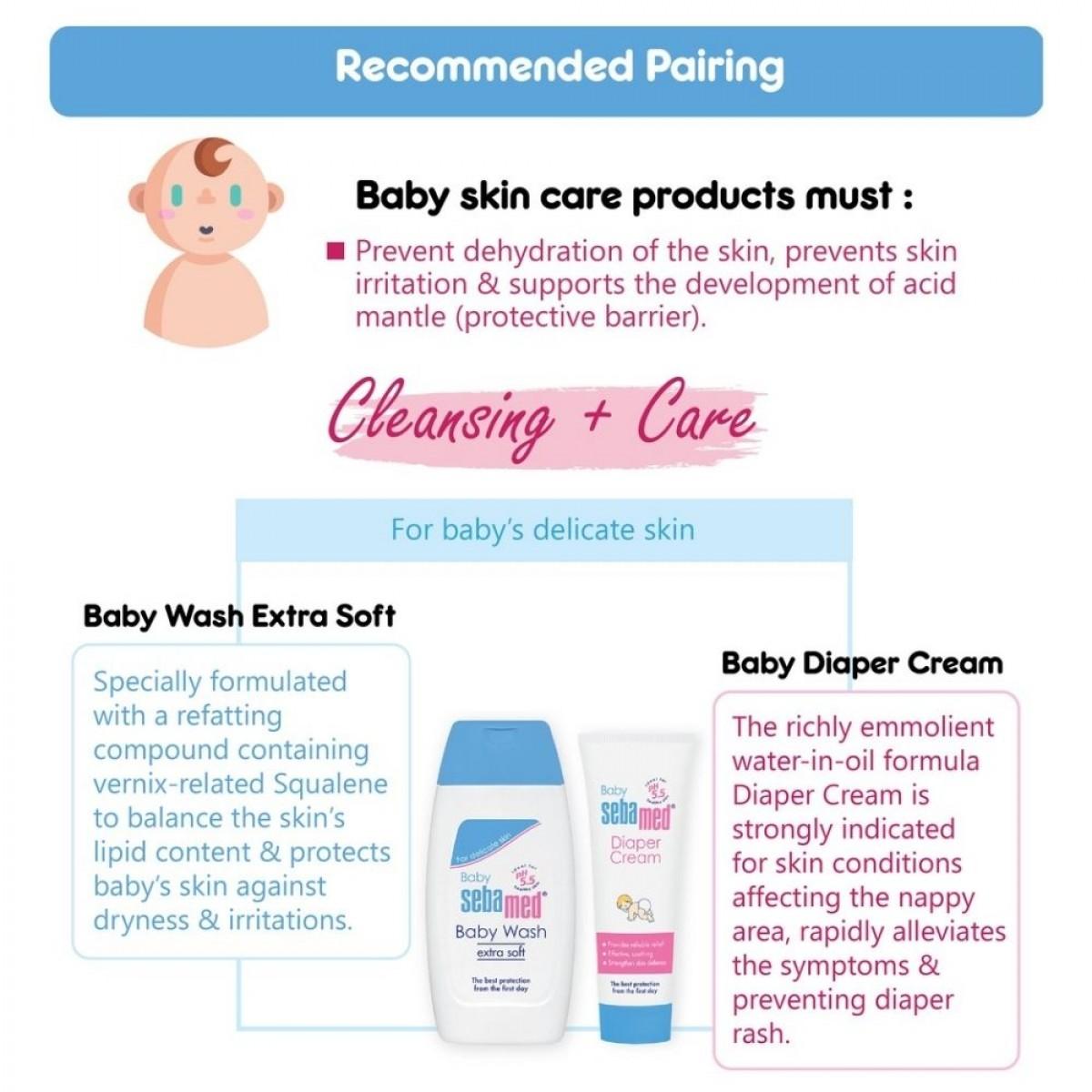 Sebamed Baby Diaper Cream 100ml (pH 5.5) - Nappy / Diaper Rash Cream - Made in Germany