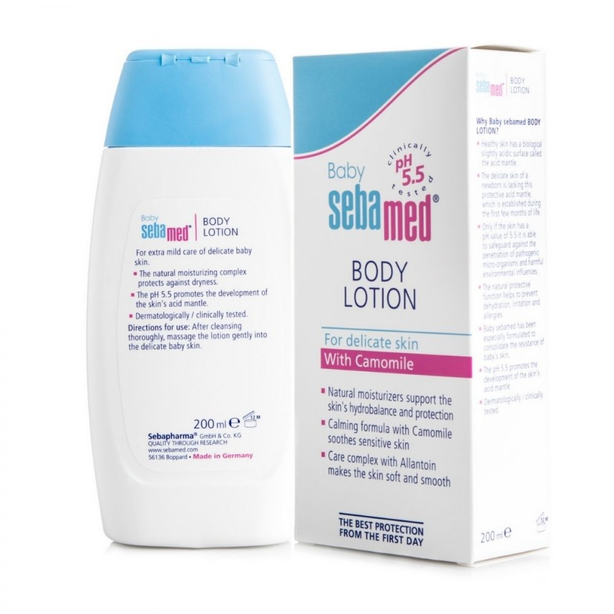 Sebamed Baby Lotion 200ml (pH 5.5) - Moisturizing Lotion - Suitable For Dry Skin and Sensitive Skin  - Made In Germany